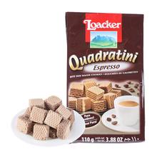 莱家 特浓咖啡味粒粒装威化饼干 110g