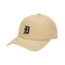 MLB 时尚嘻哈鸭舌帽 经典刺绣小老虎纯棉男女通用款棒球帽 XM32CP77911-46B 77系列软顶驼色白标正面小老虎 可调节