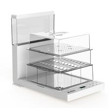 MTOY 折叠电蒸锅多功能透明蒸汽锅智能多层料理机家用小蒸箱