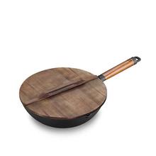 三禾(SANHO) 锅具 日式单手可颠炒铁炒锅无涂层不生锈轻铁锅炒菜锅CTN3005