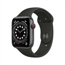 【官方授权】Apple Watch Series 6智能手表 GPS+蜂窝款 44毫米深空灰色铝金属表壳 黑色运动型表带 MG2E3CH/A