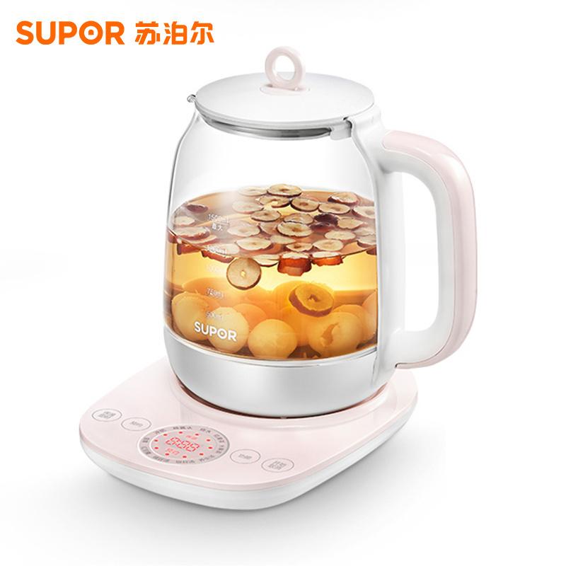 苏泊尔(SUPOR)养生壶家用玻璃电煮茶壶全自动加厚煮茶器多功能养身烧水壶SW-15Y16